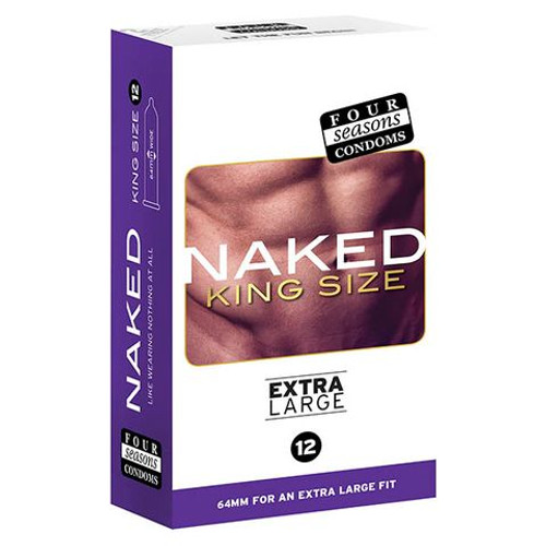 FOR032-WW - Four Seasons Naked King Size Condoms - 12 Pack