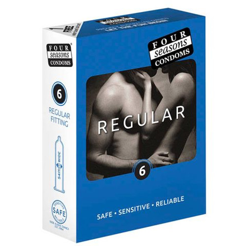 FOR012-WW - Four Seasons Regular Condoms  6 Pack