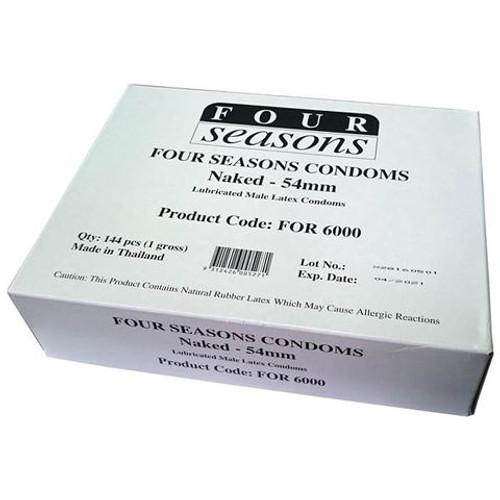 FOR6000-WW - Four Seasons Naked Classic Condoms Bulk Box of 144