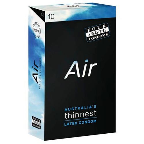 FOR125-WW - Four Seasons Air Ultra Thin Latex Condoms - 10 Pack