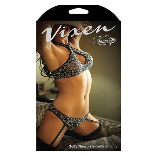 B-V726-OS-WW -Vixen Guilty Pleasure Bralette & Panty One Size