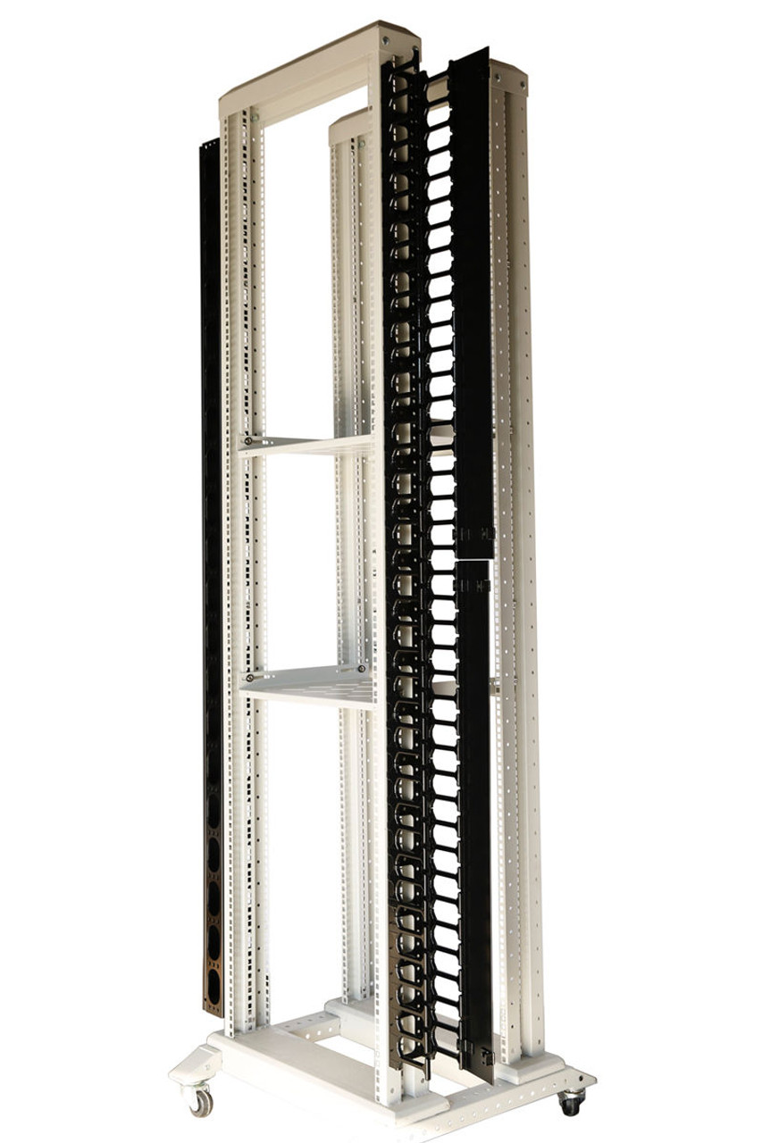 42 U Vertical Plastic Cable Manager for Servers Racks Cabinets One Piece