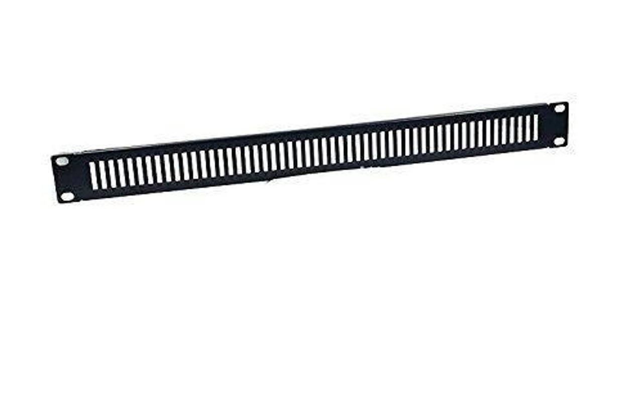 Steel Panel Slotted Standard 19 1U Black Vent
