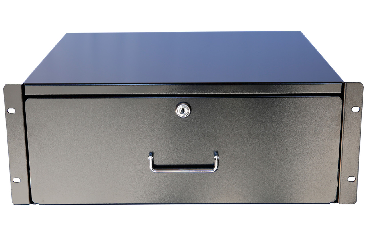 "Server Cabinet Case 19/"" Rack Mount DJ Locking Lockable Deep Drawer with Key 3U"