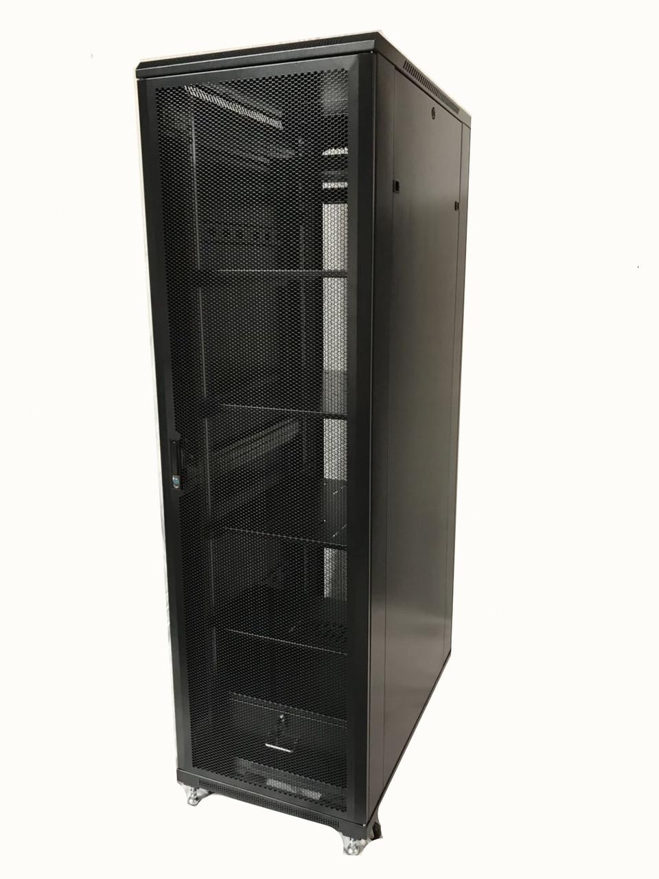 Raising Electronics Server Rack 4 Post Open Rack Frame Rack Enclosure 19 Inch Adjustable Depth Cold Rolled Steel(42U,82Inch Height)