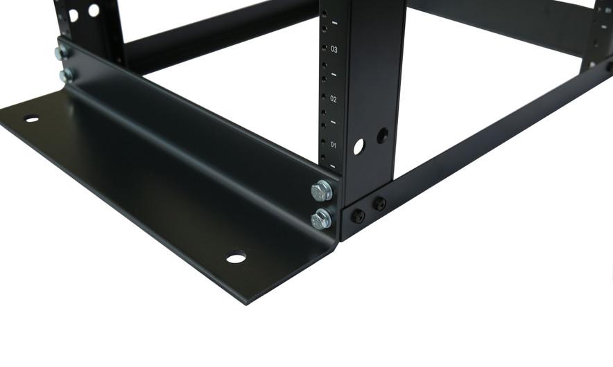 "15U 4 Post Open Frame Server Rack Enclosure 19/"" Adjustable Depth Aluminum"