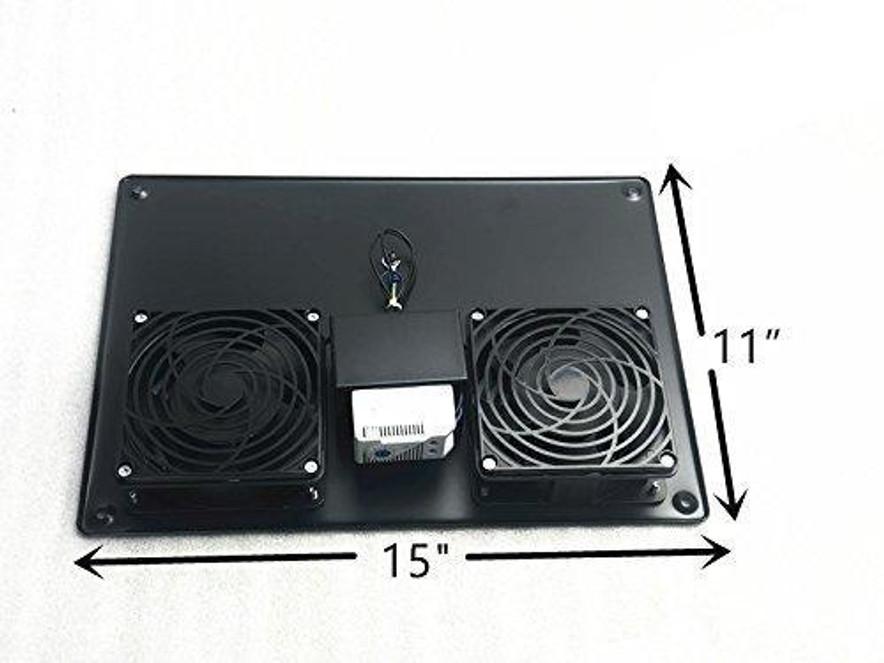 Rack Mount Server Digital Temperature Control Unit with fan system110V 1U