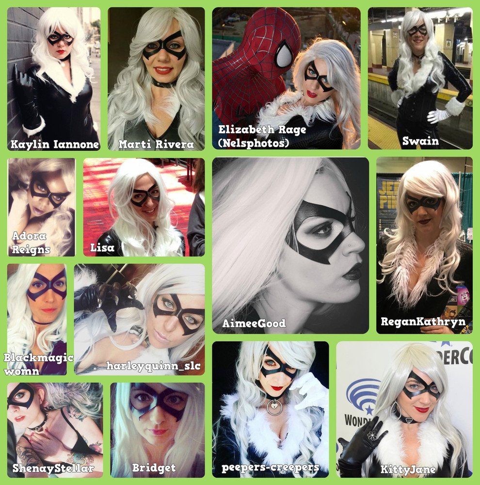 Black Cat Felicia Hardy Mask Collage