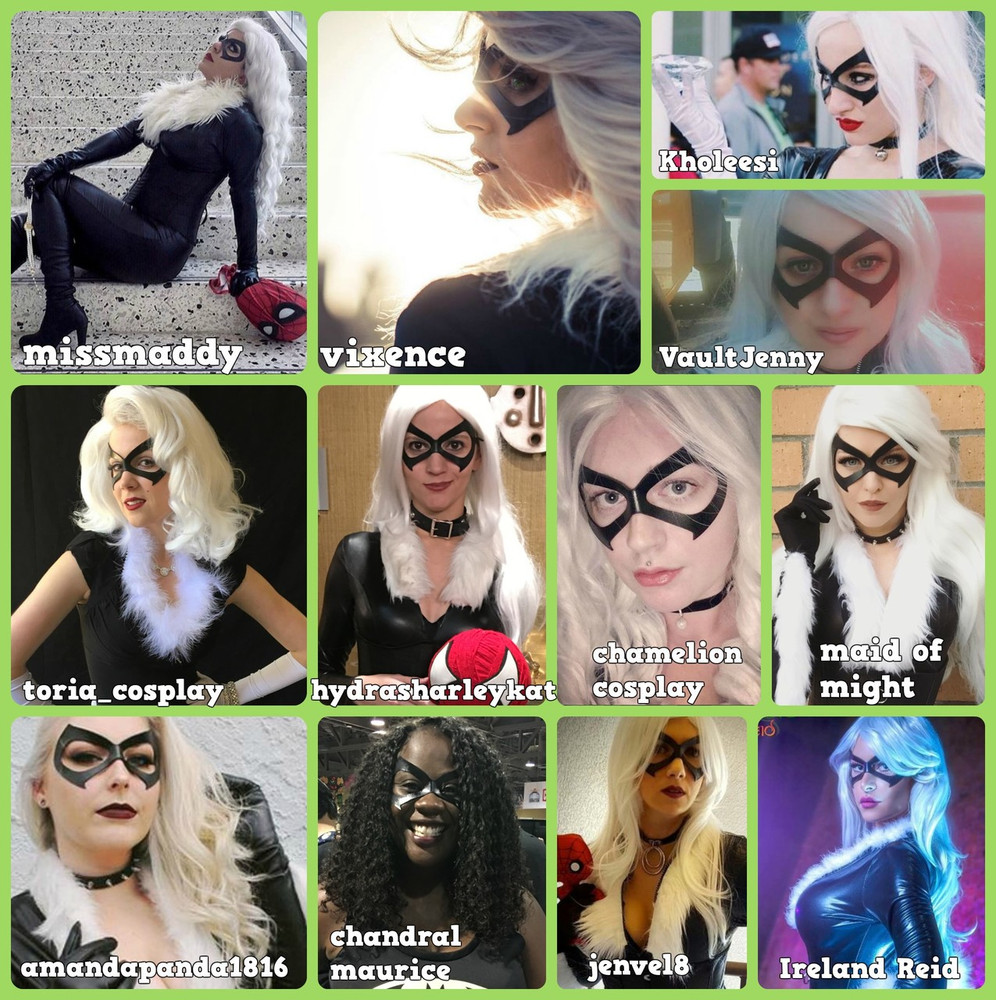 Black Cat Felicia Hardy Mask Collage 2