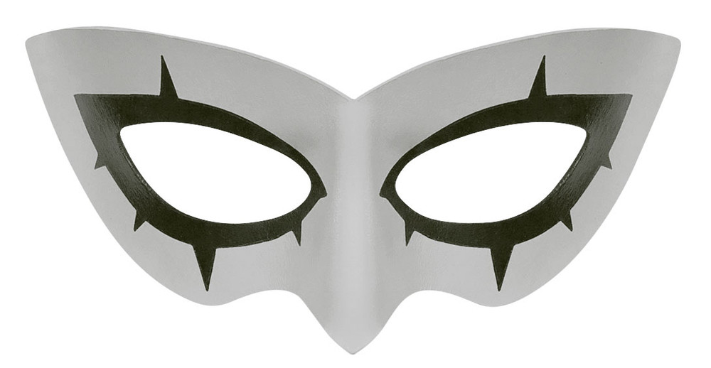 Persona 5 Joker Mask Front Gray