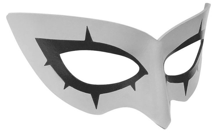 Persona 5 Joker Mask Right Gray