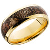 14K Yellow Gold 8mm Domed Band with 5mm King's Woodland Camo inlay