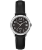 Easy Reader 25mm Leather Strap Watch Silver-Tone/Black