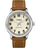New England 40mm Leather Strap Watch