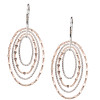 SS ROSE GOLD-PLATED MIRRORS OVAL EARRINGS