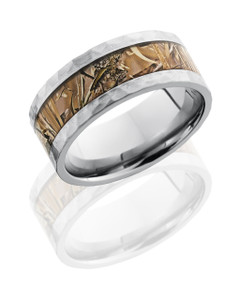 Titanium 9mm Flat Band with 5mm King's Field Camo inlay