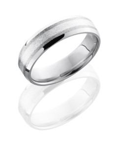 Cobalt Chrome 6mm beveled Band with 2mm SS