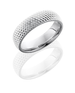 Cobalt Chrome 6mm Domed Band with Knurl Pattern