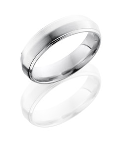 Cobalt Chrome 6mm Peaked Band with Grooved Edges