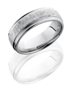Cobalt Chrome 7mm Flat Band with Rounded Edges