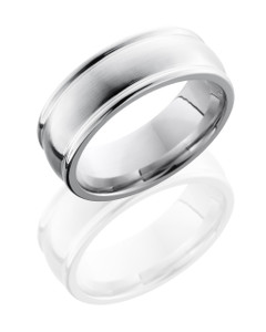 Cobalt Chrome 8mm Domed Band with Rounded Edges