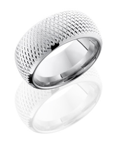 Cobalt Chrome 10mm Domed Band with Knurl Pattern