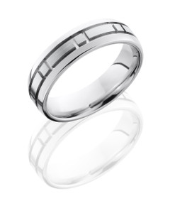 Cobalt Chrome 5mm Domed Band with Box Pattern