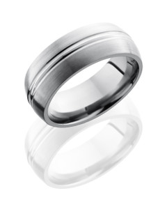Titanium 8mm Domed Band with Domed Center
