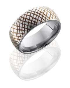 Titanium 9mm Domed Band