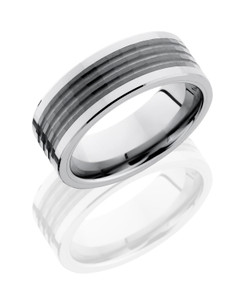 Ceramic and Tungsten 8mm Band