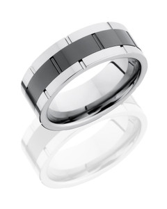 Ceramic and Tungsten 9mm Band