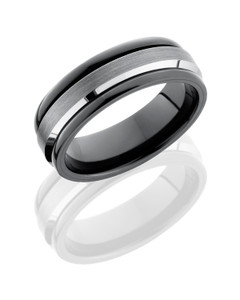 Ceramic and Tungsten 7mm Band