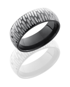 Zirconium 7mm Domed Band
