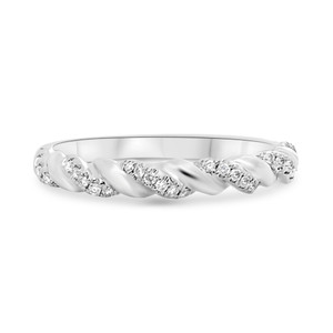 Twisted White Gold Band