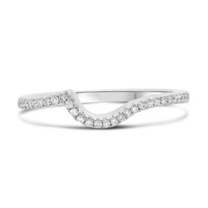 Curved Half Pave Diamond Band