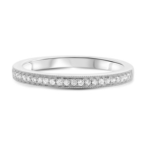 Half Pave Milgrain Diamond Band