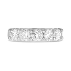 Five Stone Round Diamond Band
