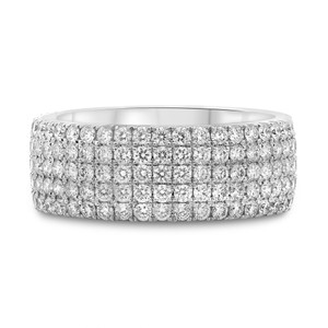 Five Row White Diamond Eternity Band