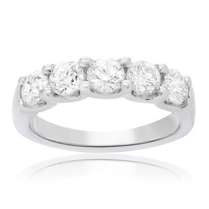 Five Stone White Diamond Band