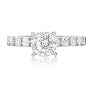 Pave Shank White Gold Engagement Setting