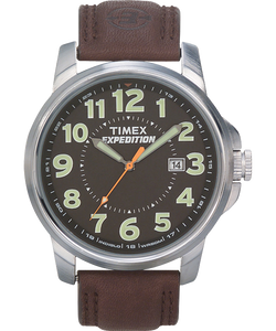 Expedition Metal Field 40mm Leather Strap Watch