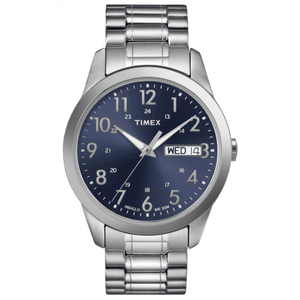 Expansion Band Watch - Silver/Blue
