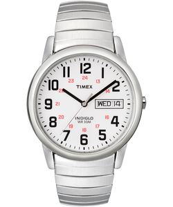 Easy Reader Day Date 35mm Expansion Band Watch Silver-Tone/Stainless-Steel/White