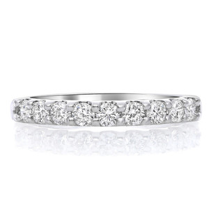 Nine Stone White Diamond Band
