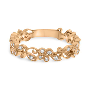 ROSE GOLD DIAMOND FILIGREE BAND