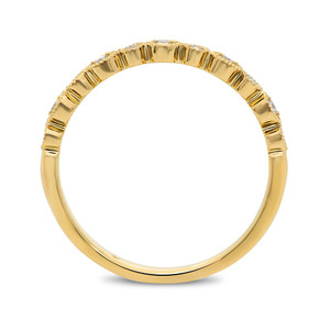 YELLOW GOLD MILGRAIN DIAMOND BAND