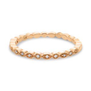 ROSE GOLD MARQUISE AND DOT DIAMOND BAND