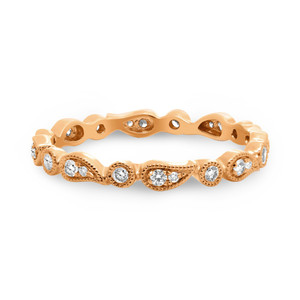 PAISLEY ROSE GOLD AND DIAMOND BAND