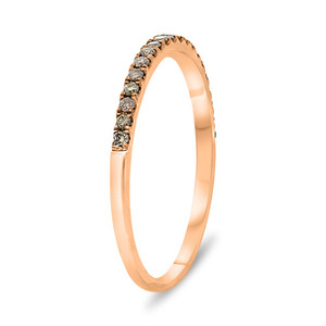 ROSE GOLD CHAMPAGNE DIAMOND BAND