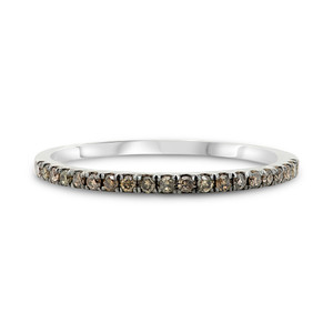 WHITE GOLD CHAMPAGNE DIAMOND BAND